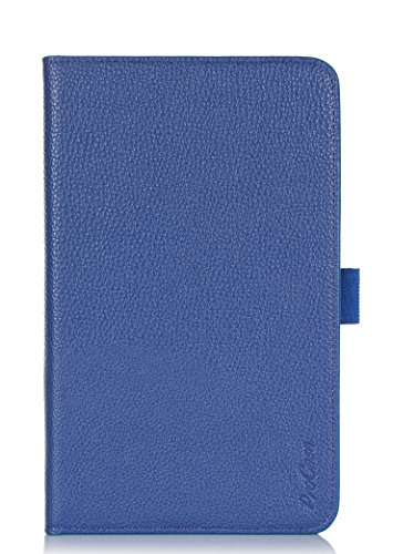 ProCase 2014 ASUS MeMO Pad 8 (ME181C) Dual View Case (horizontal and vertical display) - Rotating Cover Case with Stand exclusive for 2014 version ASUS MeMO Pad 8 (ME181C) Tablet, with bonus procase Stylus Pen (Navy, Dark Blue) - Exclusive Horizontal Leather