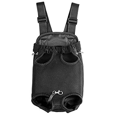 GEEPET Legs Out Front-facing Dog Carrier Hands-free Adjustable Pet Puppy Cat Backpack Carrier for Walking Hiking Bike and Motorcycle from GEEPET