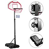 Yaheetech Height Adjustable Basketball Hoop System Portable Kids Junior Goal Stand 29 Inch Backboard W/ Wheels
