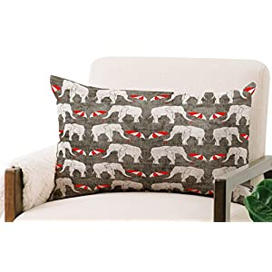 Deny Designs Holli Zollinger Oblong Throw Pillow, Elephant and Umbrella