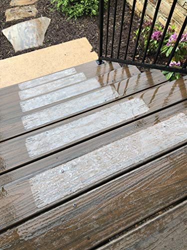 (15-Pack) Pre Cut Transparent 24x4 Anti Slip Clear Non Slip Strips, Safety for Kids, Elders and Pets, Adhesive Stair Treads, Indoor, Outdoor, Prevents Slipping, Easy Install Kit,PVC Free