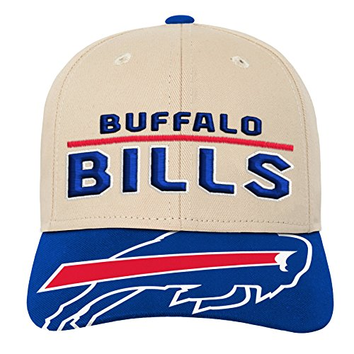 Outerstuff NFL NFL Buffalo Bills Youth Boys Retro Style Logo Structured Hat Royal, Youth One Size