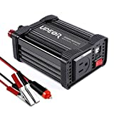Upeor 200W Car Power Inverter DC 12V to 110V AC Converter with 4.2A Dual USB Car Charger (Black)