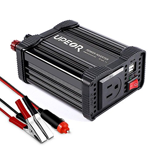 UPERO 200W Car Power Inverter DC 12V to 110V AC Converter with 4.2A Dual USB Car Charger