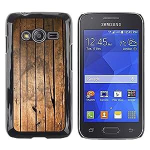 LECELL--Funda protectora / Cubierta / Piel For Samsung Galaxy Ace 4 G313 SM-G313F -- Ship Deck Floor Vertical Lines Grain --