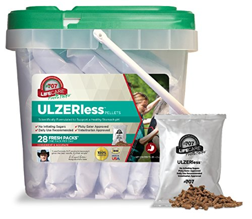Formula 707 Ulzerless Equine Supplement, Daily Fresh Packs, 28 Day Supply - Natural Support for Horses with Ulcer Risk Factors
