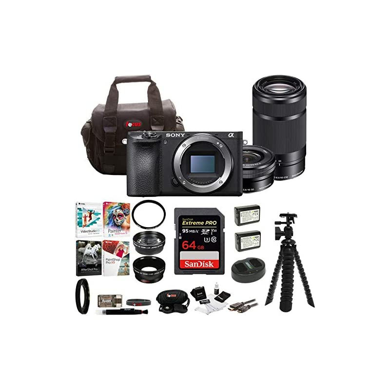 Sony a6500 Mirrorless Camera with 55-210