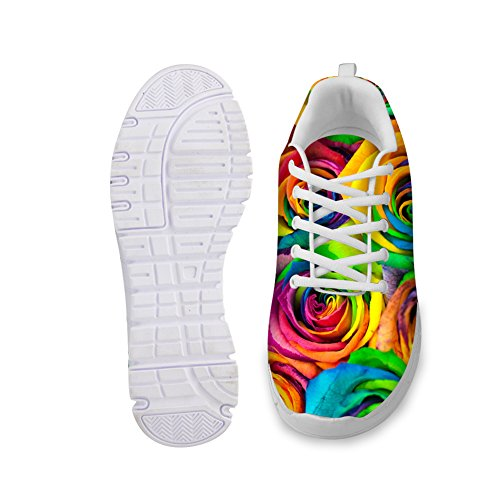 Fashion Running Women's Multi Designs B1 Sneaker Floral Shoes Rose U Walking Vintage Print Comfortable For Yx0wqgaPW
