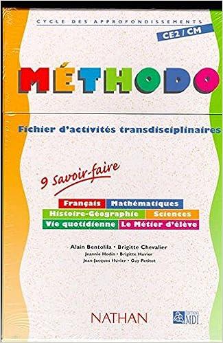 Book Methodo, cycle 3, fichier d'activités transdisciplinaires, niveau 1