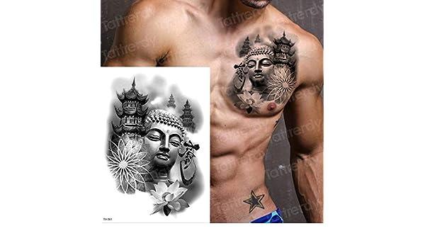 adgkitb 3 Piezas a Prueba de Agua Tatuajes temporales Hombres ...