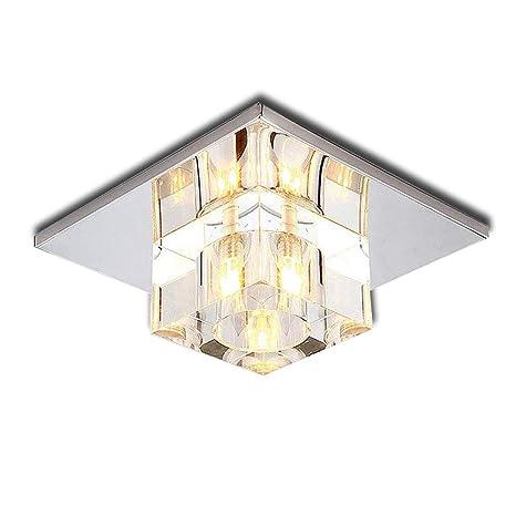 5 W LED Crystal Aisle Pasillo Luz Iluminación Hall entrada luces balcón acero inoxidable lámpara de techo lámpara cálida (ACálido Luz)