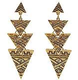 Hoxekle Vintage Geometric Triangular Sti