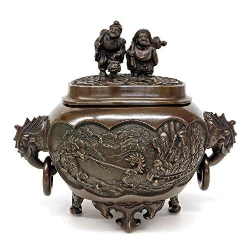 『恵比須大黒蓋香炉』銅製 B0795PDTKF