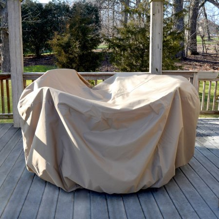All-Weather Protective Cover for 54'' Round Table and Chairs with Umbrella Hole by Generic