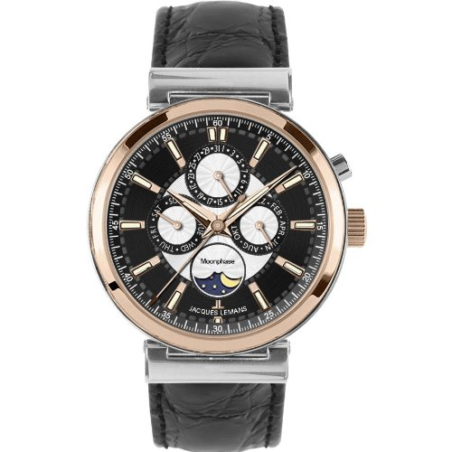 Jacques Lemans Men's 1-1698B Verona Classic Analog Chronograph with Moonphase Watch