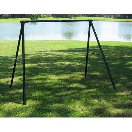 Amazon Com Flexible Flyer Lawn Swing Frame Black Metal