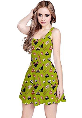 CowCow - Vestido - para mujer verde oliva