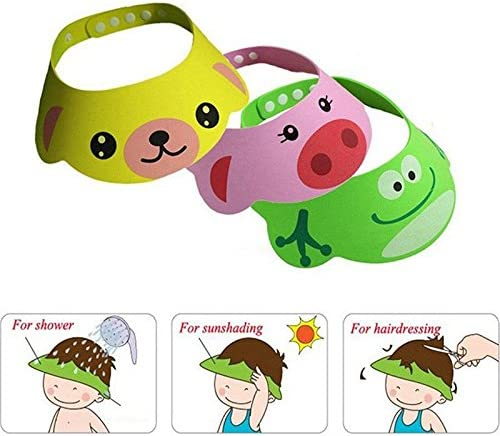 Calistouk seguro para el beb/é champ/ú gorros de ducha ba/ño protecci/ón suave gorro de ducha lavar pelo para ni/ños Kids