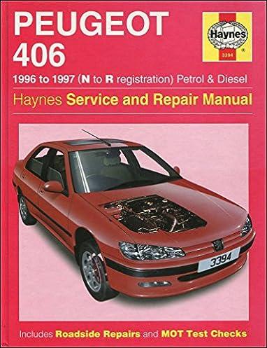 haynes owners workshop car manual peugeot 406 petrol diesel 96 rh amazon co uk workshop manual peugeot 406 hdi workshop manual peugeot 406