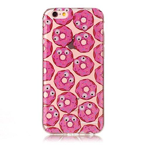 """Hülle iPhone 6 / 6S , LH Augen Donuts TPU Weich Muschel Tasche Schutzhülle Silikon Handyhülle Schale Cover Case Gehäuse für Apple iPhone 6 / 6S 4.7"""""""