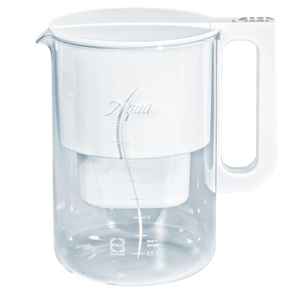 Aqua Select Plus Glass Water Filter Jug with Date Indicator for MultiMax Cartridges