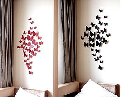 Flash Hawk 3D Butterfly Wall Stickers Decor Art Decorations