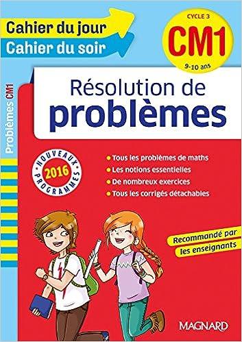 Livre gratuits Cahier du jour/Cahier du soir Résolution de problèmes CM1 - Nouveau programme 2016 epub, pdf