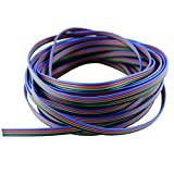 22 Awg RGB Wire, 4 pin, 4 Color RGB Extension Cable Line for LED Strip RGB 5050 3528 Cord, Can Lighting Inc, LED Wholesaler (20M 64ft)