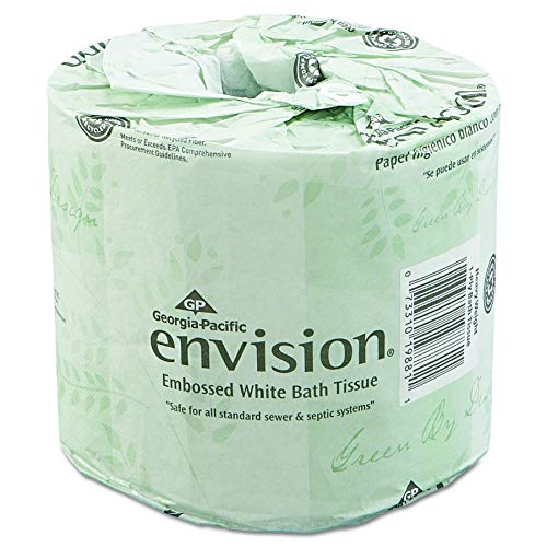 Envision 2-Ply Embossed Toilet Paper by GP PRO (Georgia-Pacific), 19880/01, 550 Sheets Per Roll, 80 Rolls Per Case (Renewed)
