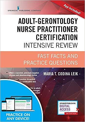 Adult-Gerontology Nurse Practitioner Certification Intensive Review ...
