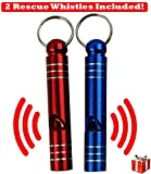 12 in 1 Pocket Survival Card Tool w/ 2 Rescue Whistles, Magnesium Fire Starter, & Paracord! Compact Credit Card Size Multitool - Ideal for Camping, Hiking, Outdoors, Signaling or Life Emergencies