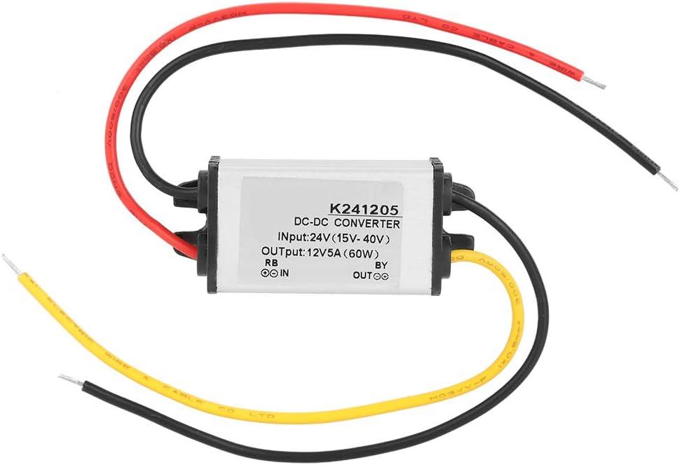 Convertidor Reductor - Convertidor DC-DC Fuente de alimentación Reductora de Alta eficiencia de 24V a 12V 5A