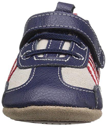 Robeez Boys' Joggin' Josh Sneaker, Jogging Josh Navy, 18-24 Months M US Infant