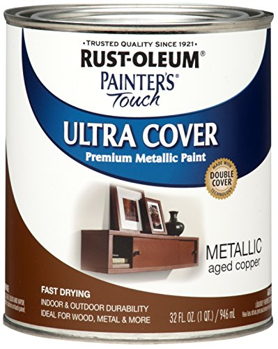 Rust-Oleum 258203 Painters Touch Quart Oil Based, Metallic Aged Copper (Exterior Paint Copper)
