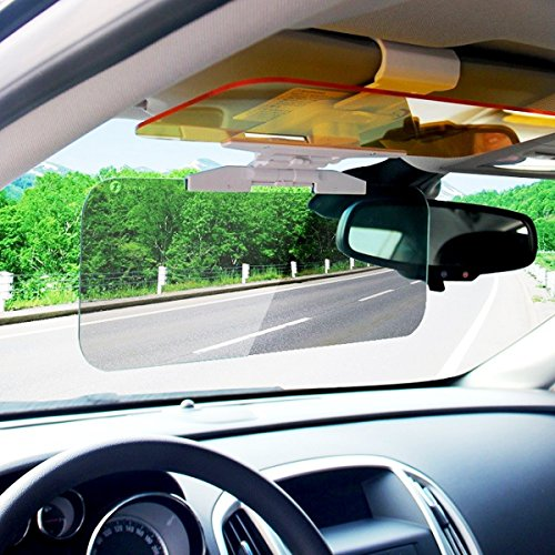XPLUS Car Day and Night Anti-glare Visor, 2 in 1 Automobile Sun Anti-UV Block Visor Non Glare Anti-Dazzle Sunshade Mirror Goggles Shield for Driving Goggles