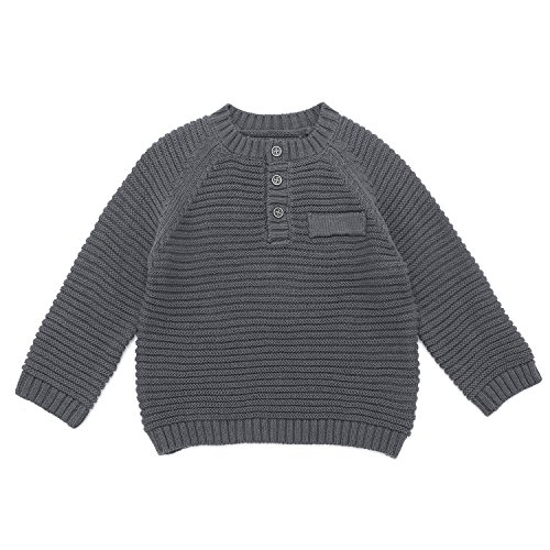 8148a0e0b DOYOMODA Baby Boy Crew Neck Button Down Sweater Toddler Cable Knit ...