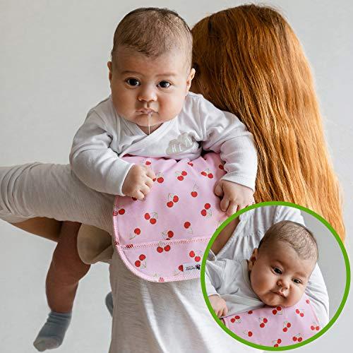 Spucktücher aus Bio Baumwolle, 3 Stück Doppelt Gewebt, Spuckdecke für Dein Neugeborenes Baby, Moderne Muslin Mulltücher MADE IN EU; Saugstarke Burp Cloths; Weiches Pucktuch für Jungen und Mädchen