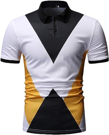 Fannyfuny camiseta Hombre Camisa Polo con punta Camisa Polo para Hombre Manga corta Camiseta Empalme Polo Piqué de Manga Corta Caballero Tallas Extra Grandes Verano Deporte: Amazon.es: Ropa y accesorios