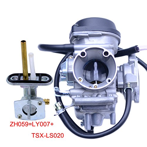 FLYPIG CARBURETOR FOR SUZUKI LTZ400 LTZ 400 QUAD ATV WITH FUEL VALVE PETCOCK 2003-2007 2003 Suzuki Atvs