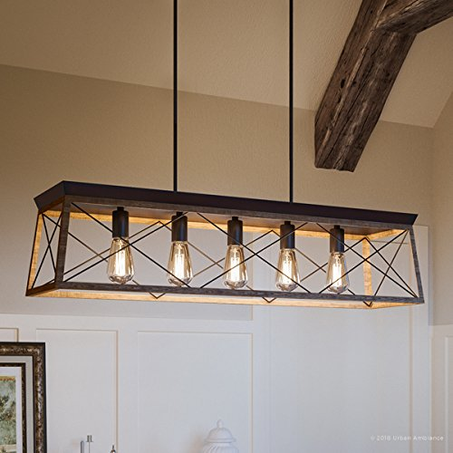 Luxury Industrial Chic Island/Linear Chandelier, Large Size: 9