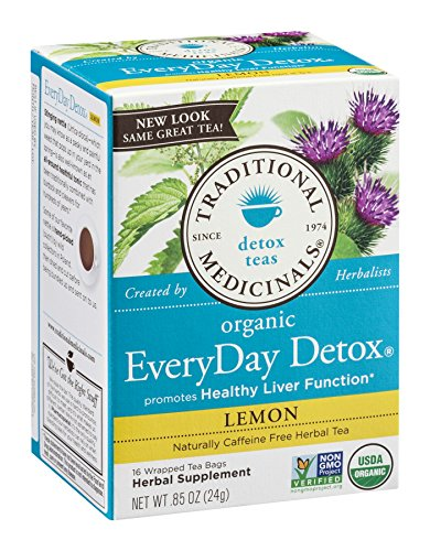 Traditional Medicinals Tea Everyday Detox Lemon, 16 ct