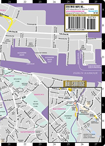 Streetwise Dublin Map - Laminated City Center Street Map of - Import on