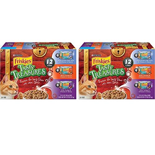 Purina Friskies Tasty Treasures Tasty Treasures Variety Pack Adult Wet Cat Food - (12) 5.5 FL oz. Cans