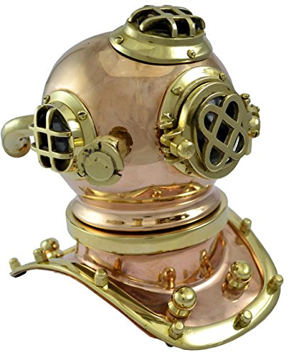 Brass Nautical Diving Helmet - 6 inches Ball (6.89 x 7.09...