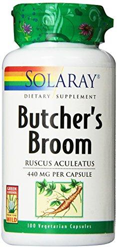 Solaray Butcher's Broom Capsules, 440 mg, 100 (Solaray Butchers Broom)