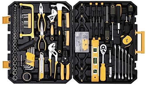 198 pezzi Set di strumenti meccanici set di utensili domestici con valigetta