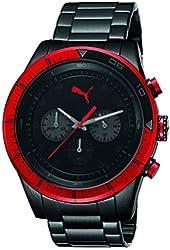 Puma Men's Fast Track PU102821005 Black Stainless-Steel Quartz Watch