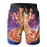 FASHIONPANTS Kitten Pizza Design Men's Men Beach Shorts Training Pants Boardshort XL