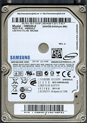 - Samsung HM500JI SPINPOINT 500GB P/N: C2042-F14A-A0F51