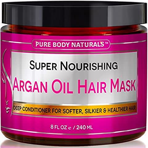 Pure Body Naturals Moroccan Argan Oil Hair Treatment Mask, 8 Ounce - Ingredients In Mayonnaise